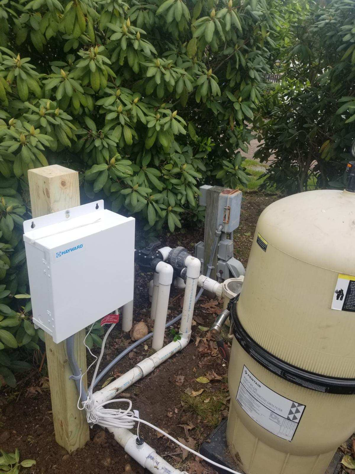 Salt Generator Install by the electricians of Peter Lombardo Electric of Deer Park, Long Island