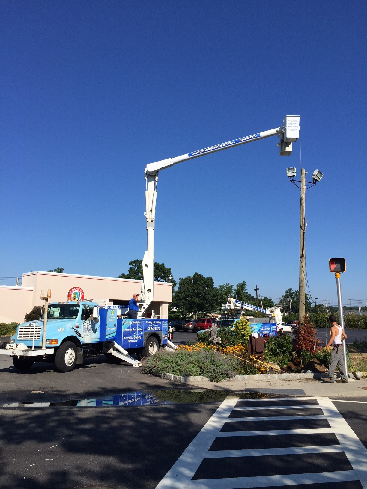 Installing a Utility Pole at the Wyandanch Fire Dept