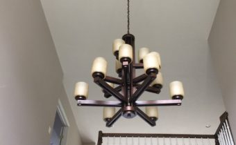 Foyer Chandelier Installation