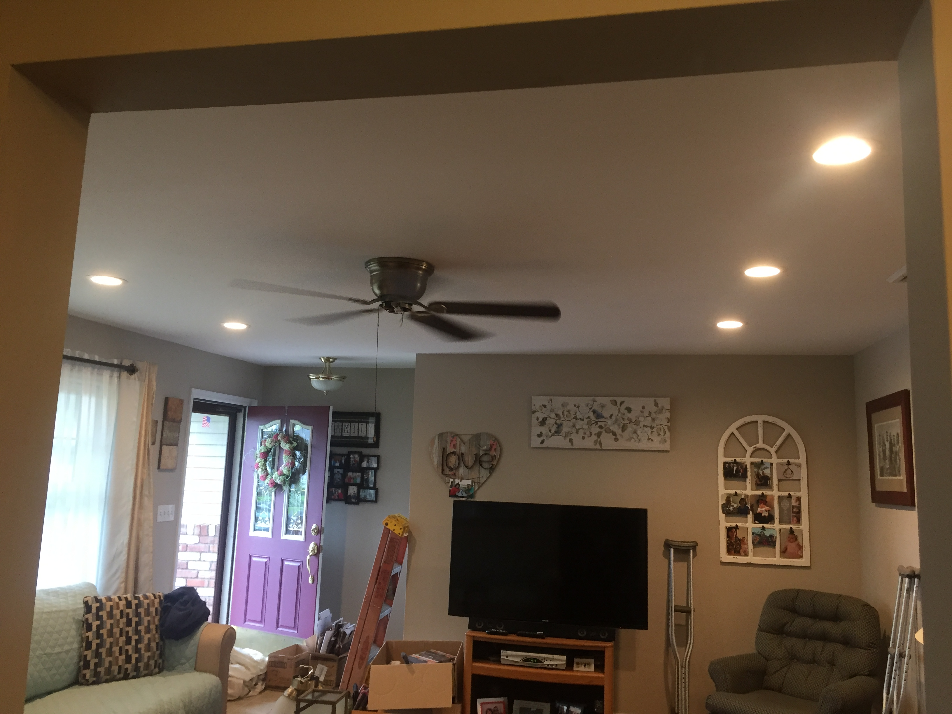 Peter Lombardo Electric, Picture after recessed light installation. Hi hats, recessed lights, master electrician, deer park, long island
