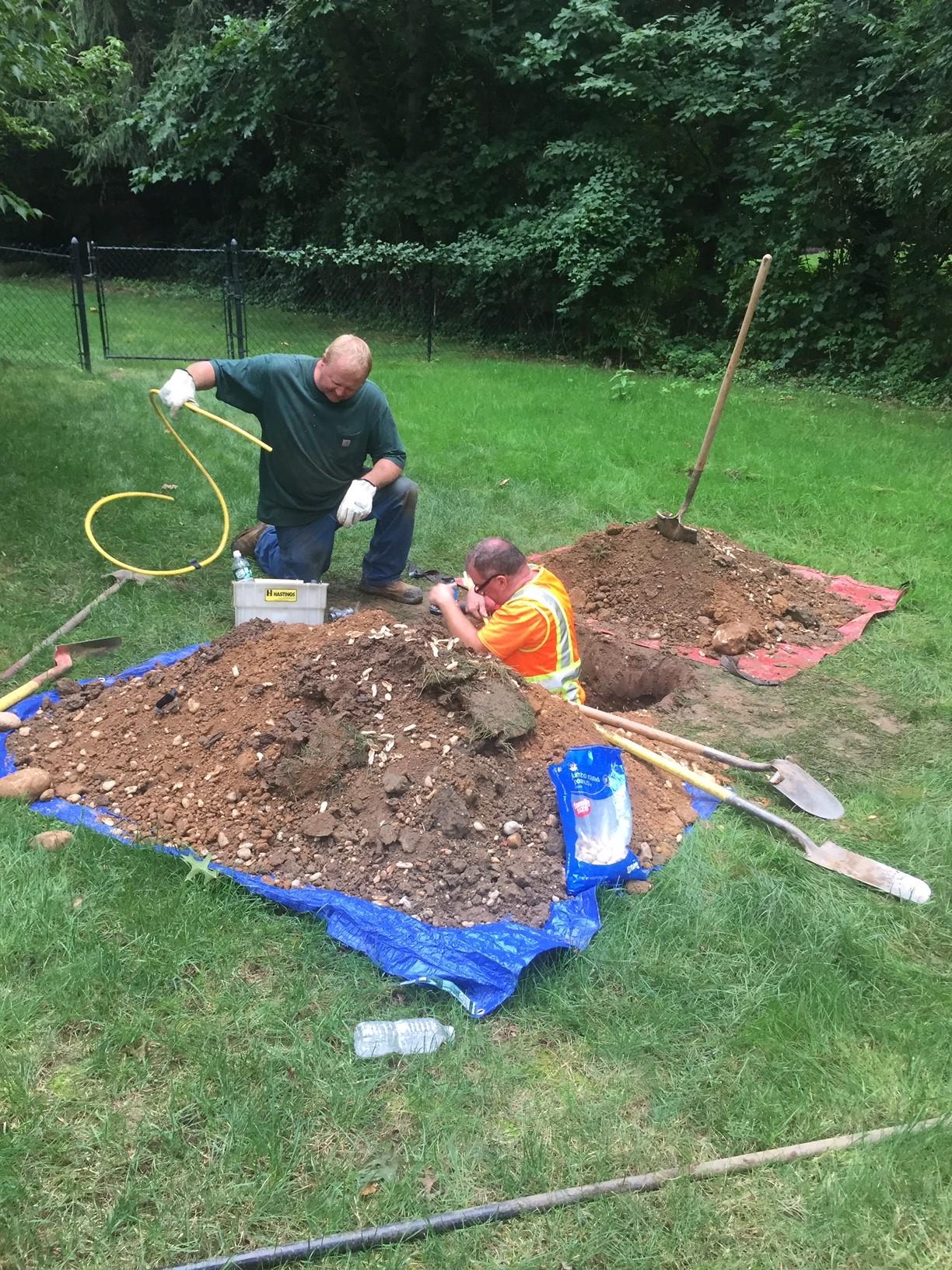 Underground Service Repair hole